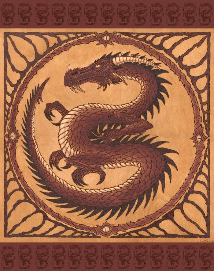 rendition of the Serpent of Set